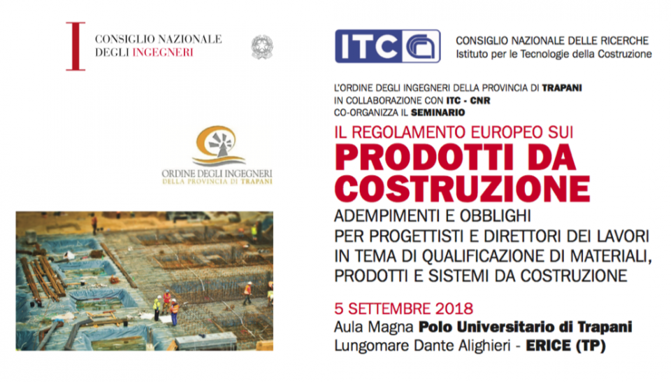 5/9/2018 – CONTINUING VOCATIONAL TRAINING COURSES ON THE SUBJECT OF NATIONAL AND INTERNATIONAL QUALIFICATION OF CONSTRUCTION MATERIALS, PRODUCTS AND SYSTEMS