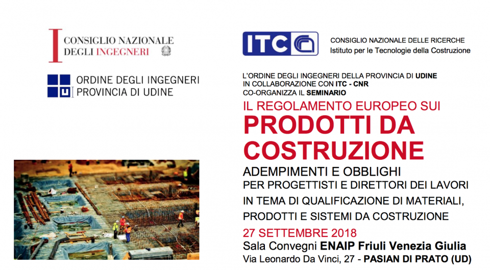 27/9/2018 – CONTINUING VOCATIONAL TRAINING COURSES ON THE SUBJECT OF NATIONAL AND INTERNATIONAL QUALIFICATION OF CONSTRUCTION MATERIALS, PRODUCTS AND SYSTEMS