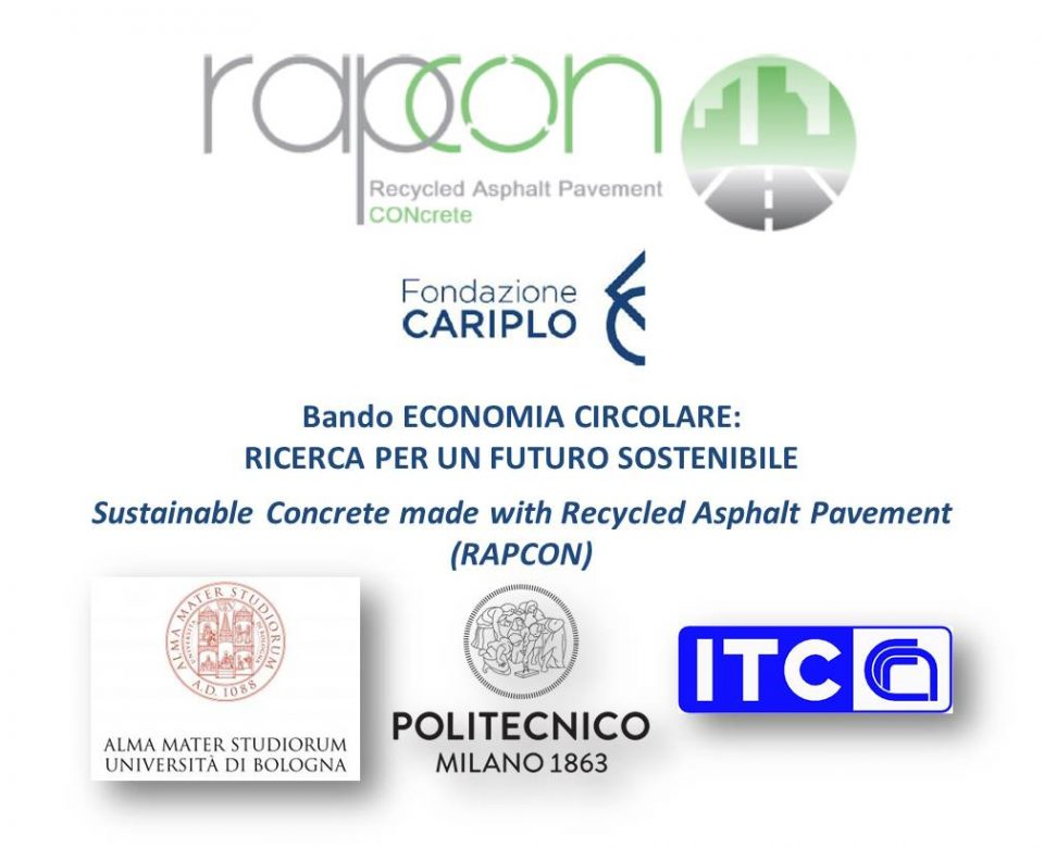 Sustainability and Circular Economy: keywords for the new RAPCON project