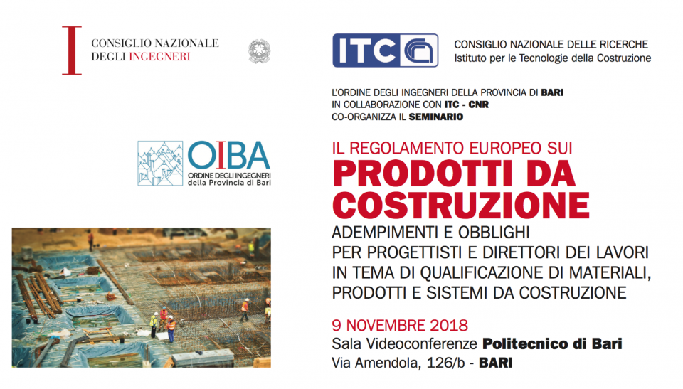 9/11/2018 – CONTINUING VOCATIONAL TRAINING COURSES ON THE SUBJECT OF NATIONAL AND INTERNATIONAL QUALIFICATION OF CONSTRUCTION MATERIALS, PRODUCTS AND SYSTEMS