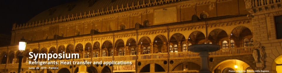 Refrigerants: heat transfer and applications  – 37th UIT HEAT TRANSFER CONFERENCE – 26 June 2019 Padova Italy